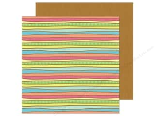 Doodlebug 12 x 12 in. Paper Fun In The Sun Surf Stripes (25 sheets)
