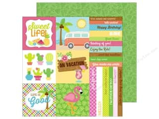 Doodlebug 12 x 12 in. Paper Fun In The Sun Island Tropics (25 sheets)