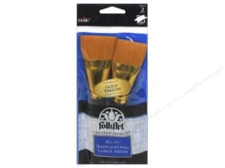 "craft & hobbies: Plaid Tools FolkArt Brush Basecoating 1.5"" 2pc"