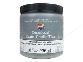 craft & hobbies: Delta Ceramcoat Chalk Paint 8 oz. Oyster Shell