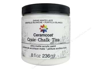 Delta Ceramcoat Chalk Paint 8 oz. White Lace