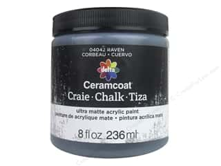 Clearance: Delta Ceramcoat Chalk Paint 8 oz. Raven