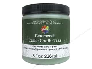 Delta Ceramcoat Chalk Paint 8 oz. Spanish Olive