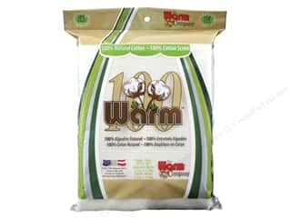 "Warm 100 Cotton Batting & Scrim Baby 55""x 60"""