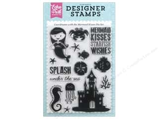 Echo Park Designer Stamp Lets Be Mermaids Collection Mermaid Kisses