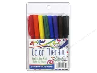 craft & hobbies: Liquimark Marker Color Therapy Fine Point Classic 8 pc