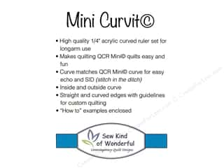 ruler: Sew Kind Of Wonderful Ruler QCR Mini Curvit Set