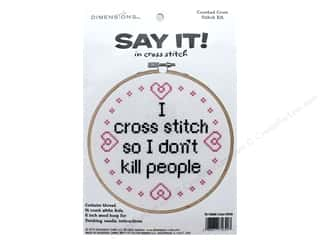 Dimensions Cross Stitch Kit Say It! I Cross Stitch Picture