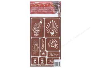 craft & hobbies: Armour Over 'N' Over Stencil Feathered Bliss