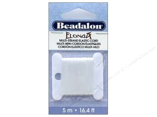 cording: Beadalon Elonga Stretchy Bead Stringing Cord 1 mm White 16.4 ft.