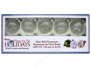 craft & hobbies: Darice Glass Ball Ornaments 2 3/8 in. 10 pc.