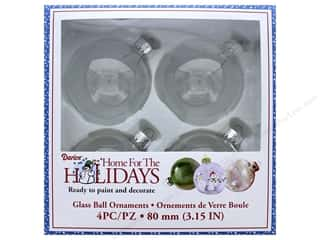 craft & hobbies: Darice Glass Ball Ornaments 3 1/8 in. 4 pc.