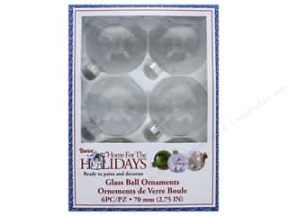 craft & hobbies: Darice Glass Ball Ornaments 2 3/4 in. 6 pc.