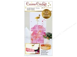Cosmo Cricket Just Add Watercolor Block Flamingo
