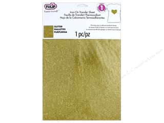 die cutting machines: Tulip Iron On Transfer Fashion Glitter Sheet Gold