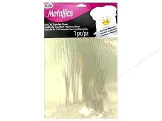 Tulip Iron On Metallic Transfer Sheet 8 1/2 x 11 in. Gold