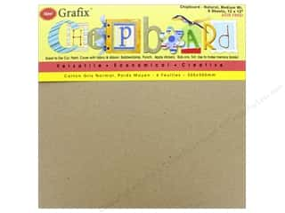Grafix Chipboard Medium Weight 12 in. x 12 in. Natural 6 pc