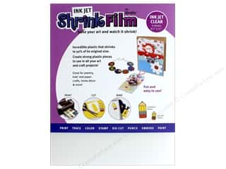 scrapbooking & paper crafts: Grafix Shrink Film 8 1/2 x 11 in. Ink Jet Clear 6 pc.