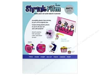 scrapbooking & paper crafts: Grafix Shrink Film 8 1/2 x 11 in. Matte 6 pc.