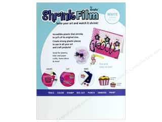 craft & hobbies: Grafix Shrink Film 8 1/2 x 11 in. White 6 pc.
