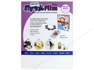 die cutting machines: Grafix Shrink Film 8 1/2 x 11 in. Ink Jet White 6 pc.