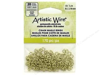 Artistic Wire Chain Maille Jump Rings 20 ga. 7/64 in. Brass 170 pc.