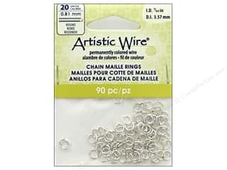 Artistic Wire Chain Maille Jump Rings 20 ga. 9/64 in. Silver 90 pc.
