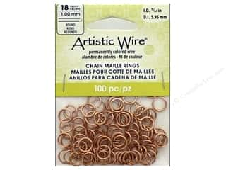 Artistic Wire Chain Maille Jump Rings 18 ga. 15/64 in. Natural 100 pc.
