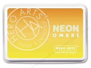 ombre ink pad: Hero Arts Ink Pad Ombre Neon Yellow/Orange