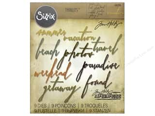 Tim Holtz Metallic Mixative: Sizzix Thinlits Die Set 9 pc. Handwritten Vacation