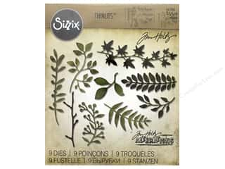 Sizzix Tim Holtz Thinlits Die Set 9 pc. Garden Greens