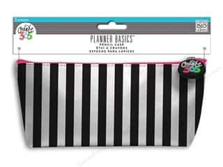 scrapbooking & paper crafts: Me&My Big Ideas Happy Planner Basics Pencil Case Black & White Stripes