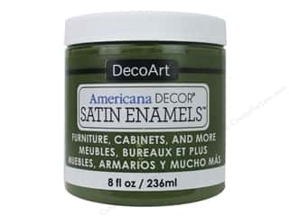 DecoArt Americana Decor Satin Enamel Paint 8 oz. Woodland Green