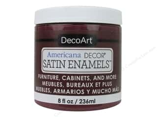 craft & hobbies: DecoArt Americana Decor Satin Enamel Paint 8 oz. Deep Ruby