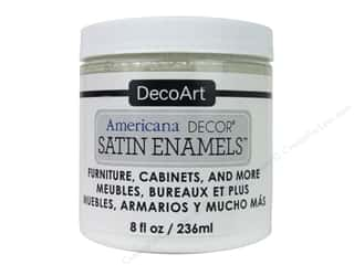craft & hobbies: DecoArt Americana Decor Satin Enamel Paint 8 oz. Pure White