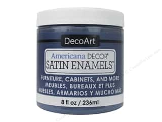 DecoArt Americana Decor Satin Enamel Paint 8 oz. Steel Blue