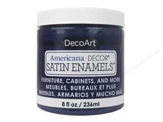craft & hobbies: DecoArt Americana Decor Satin Enamel Paint 8 oz. Dark Denim