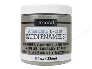 craft & hobbies: DecoArt Americana Decor Satin Enamel Paint 8 oz. Grey Taupe