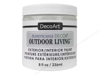 craft & hobbies: DecoArt Americana Decor Outdoor Living Exterior/Interior Paint 8 oz. Picket Fence