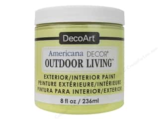 craft & hobbies: DecoArt Americana Decor Outdoor Living Exterior/Interior Paint 8 oz. Lemonade