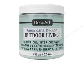 DecoArt Americana Decor Outdoor Living Exterior/Interior Paint 8 oz. Frosted Glass