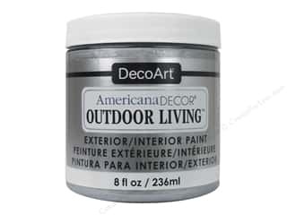 craft & hobbies: DecoArt Americana Decor Outdoor Living Exterior/Interior Paint 8 oz. Metallic Silver