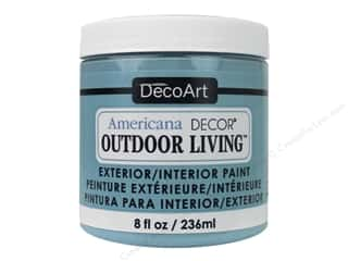 craft & hobbies: DecoArt Americana Decor Outdoor Living Exterior/Interior Paint 8 oz. Poolside