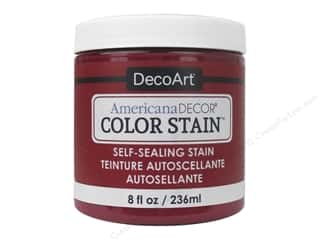 DecoArt Americana Decor Color Stain 8 oz.: DecoArt Americana Decor Color Stain 8 oz. Real Red