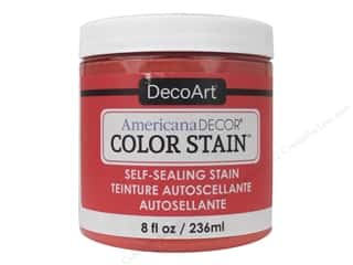 DecoArt Americana Decor Color Stain 8 oz.: DecoArt Americana Decor Color Stain 8 oz. Coral