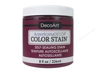 DecoArt Americana Decor Color Stain 8 oz.: DecoArt Americana Decor Color Stain 8 oz. Fuchsia