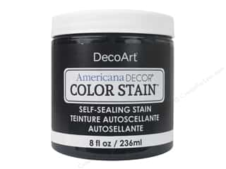 DecoArt Americana Decor Color Stain 8 oz.: DecoArt Americana Decor Color Stain 8 oz. Black