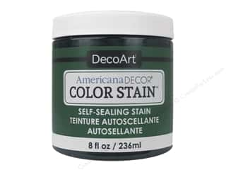 DecoArt Americana Decor Color Stain 8 oz.: DecoArt Americana Decor Color Stain 8 oz. Dark Jade