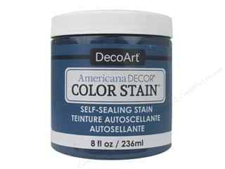 DecoArt Americana Decor Color Stain 8 oz.: DecoArt Americana Decor Color Stain 8 oz. Turquoise