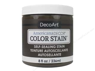 DecoArt Americana Decor Color Stain 8 oz.: DecoArt Americana Decor Color Stain 8 oz. Chocolate